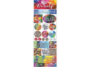 Reminisce EAV854 Ella & Viv Be Your self Poster Stickers - 12 x 12 in.