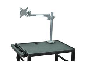 Luxor Silver Universal Adjustable Single Arm Articulating LCD TV/Monitor Desk Mount Bracket