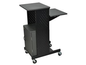 Luxor PS4000C Mobile Presentation Station with Cabinet Gray