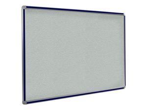 Ghent 3x4 DecoAurora Aluminum Frame Stone Vinyl Tackboard - Navy Blue Trim