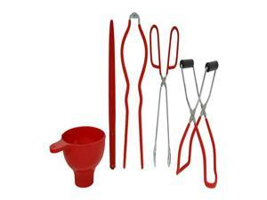Victorio 5 Function Home Canning Utensil Kit - Red