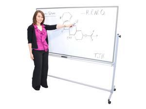 "Offex Reversible Dry-Erase Magnetic Whiteboard 72"" W X 40"" H Silver Frame - 2 Pack"