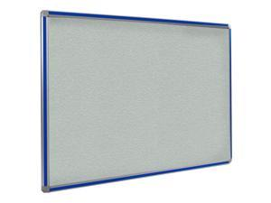 Ghent 4x8 DecoAurora Aluminum Frame Stone Vinyl Tackboard - Royal Blue Trim