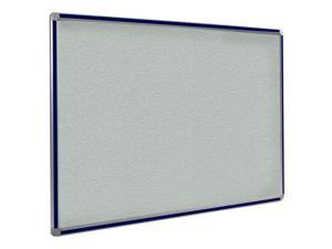 Ghent 4x4 DecoAurora Aluminum Frame Stone Vinyl Tackboard - Navy Blue Trim