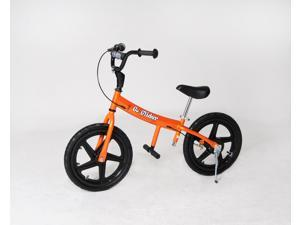 "Glide Bikes Go Glider 16"" Kids Training Balance Bike With Air Tires Orange"