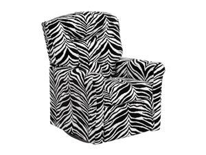 Flash Furniture Kids Zebra Print Microfiber Rocker Home Recliner