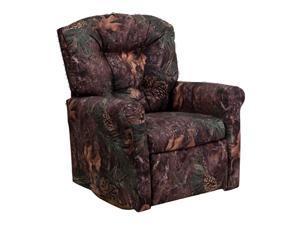 Flash Furniture Kids Camouflage Fabric Rocker Recliner Couch