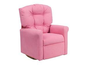 Flash Furniture Kids Pink Microfiber Rocker Recliner Couch