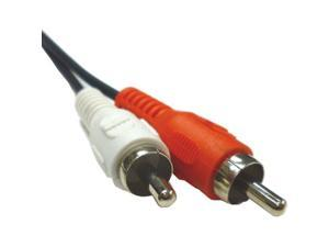 2 x RCA Audio Right & Left Stereo - Male to Male Cable - 12 Feet