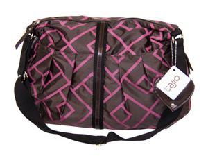 Tajio Maroon and Chocolate Brown Criss Cross Diaper Bag