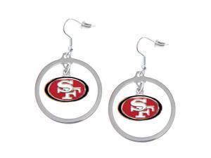 San Francisco 49ers Hoop logo Earring Set Charm Gift
