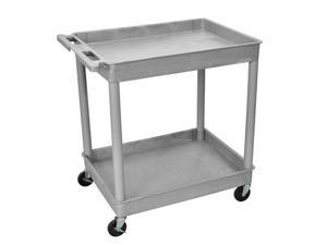 Luxor 2 Tub Shelf Portable Multipurpose kitchen Multimedia Storage Utility Service Tuffy Cart Gray 32 W x 24 D x 37 1 or ...