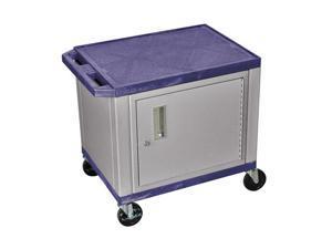 H. Wilson 2-Shelf Multipurpose Topaz Nickel Presentation Utility Cart With Lockable Storage Cabinet