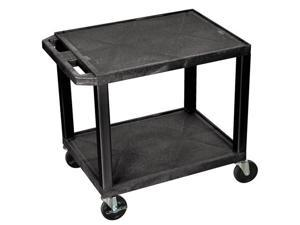 Tuffy 2-Shelf Multi-Purpose Utility Cart (Black)