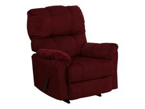Contemporary Top Hat Berry Micro Fiber Rocker Recliner By Flash Furniture