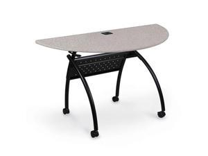 Balt Chi Flipper Table Half Round Gray Nebula