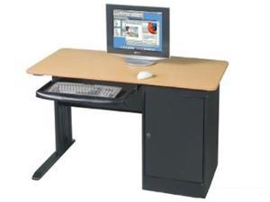 Balt Lx-48 Workstation With Locking Cpu Holder - Teak