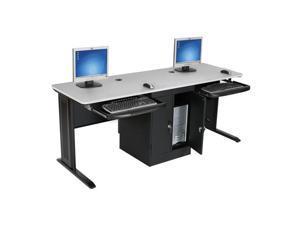 Balt Lx-72 Workstation With Locking Cpu Holder - Gray