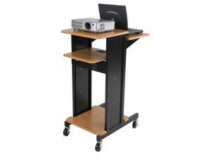 Balt Presentation Cart - Teak / Black