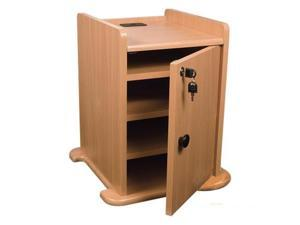 Balt Locking Cabinet For Presentation Cart  - Teak