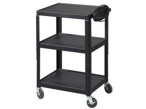 Balt Adjustable Utility Cart - 26-42 inches H With  Electrical - Black