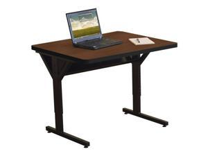 "Balt 30 X 72"" Adjustable Height Brawny Training Table  w/ Optional CPU holders - Medium Oak"