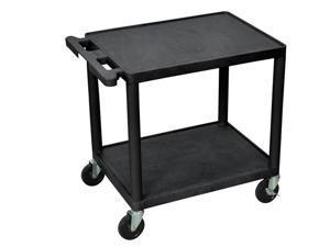 Luxor LP26-B 2 Shelves AV Carts Black
