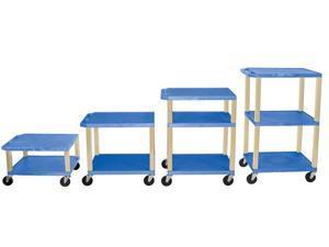 H Wilson WT1642E Adjustable Height 3 Shelves Putty Legs Tuffy Cart Blue