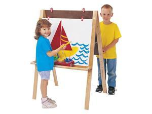 Jonti-Craft Kids Children Play Craft Room Art Work Double Sided Adjustable Artist Easel With Trays