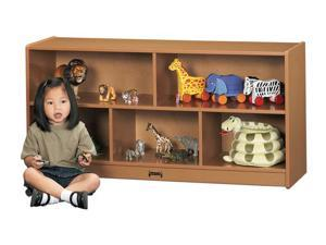 Jonti-Craft Sproutz Toddler Single Wooden Multiple Shelf Toy Storage Organizer Cubby Unit Caramel