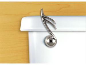 Functional Fine Art Satin Pewter Musical Note Toilet Handle-Front Tank Mount
