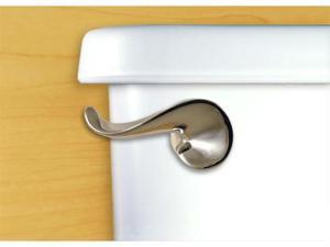 Functional Fine Art French Satin Pewter Curve Toilet Handle-Side Tank Mount
