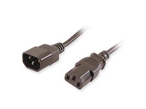 Generic Computer Or Monitor Power Cable Ext. 3ft
