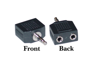 Cable Wholesale Stereo splitter 2 x 3.5mm Stereo Female / 3.5mm Stereo Male