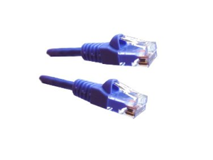 Category 5E, Purple Ethernet Network, Patch Cable, Molded Snagless Boot, 2 feet