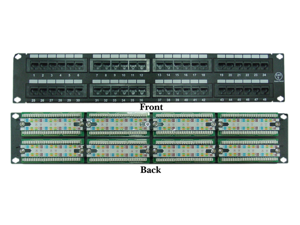 Cable Wholesale Rackmount 48 Port CAT6 Patch Panel 110 Type (568A & 568B Compatible)