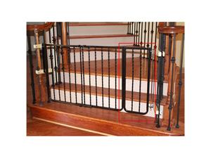 Cardinal Wrought Iron Decor Gate Extension - Black / Powder-Coated Finish