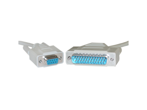 Offex Serial Cable, DB9 Female to DB25 Male, UL rated, 9 Conductor - 1 foot