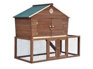 Merry Products Portable Wood Backyard Poultry Cage Ranch Chicken Coop Or Rabit Hutch