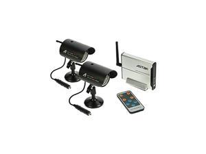 Astak Wireless Night Vision Camera Kit, 2 Cams And Receiv.