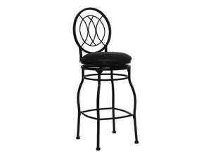 "Flash Furniture Home Office Kitchen 29"" Contemporary Metal Bar Stool With Black Leather Swivel Seat"
