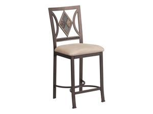 """Flash Furniture Home Office Kitchen 24"""" Contemporary Metal Counter Height Stool With Beige Seat"""