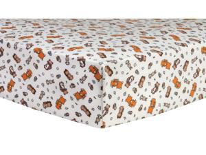 Trend-Lab Wild Bunch Deluxe Flannel Fitted Crib Sheet - Multi