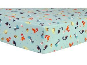 Trend-Lab Dinosaurs Deluxe Flannel Fitted Crib Sheet - Multi