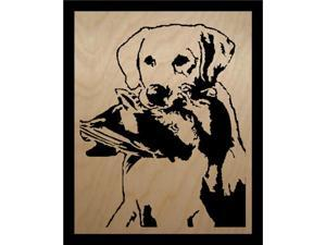 "Lab & Duck By Scroll Saw Pictures - 8"" x 10"" x 1/4"""