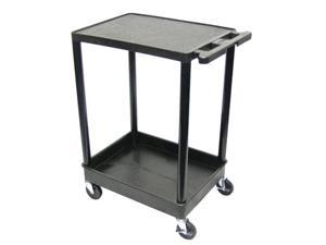 Luxor 2 Tub Shelf Portable Mobile Multipurpose Kitchen Storage Service Tuffy Utility Cart