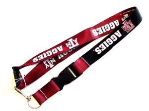 Texas A&M Aggies Reversible Clip Lanyard Keychain  Holder