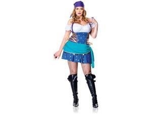 Womens Plus Size Gypsy Princess Costume