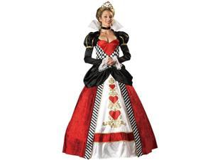 Elite Queen of Hearts Red,Black Women Premium Fancy Dress Party Adult Costume