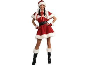 Womens Sexy Velvet Sexy Miss Santa Adult Costume